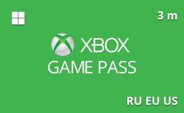 Подарочная карта Xbox Game Pass 3 мес. RU/EU/US— gift card в интернет-магазине подарочных карт PlanetCards