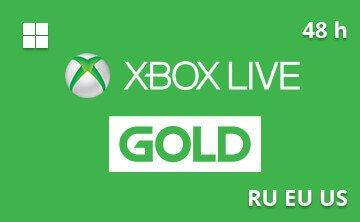Karta Xbox Live.Kupit Podarochnuyu Kartu Xbox Live Gold Trial 48 Chasov Ves Mir